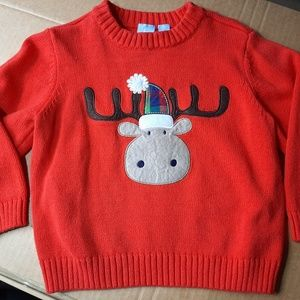 J Khaki boys moose sweater orange size 3t